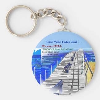 We Are Stronger than the Storm New Jersey Keychain