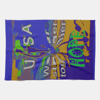 We are stronger together funny USA Hope pattern de Towel