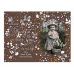We Are Thankful Happy Thanksgiving Photo Fall Postcard