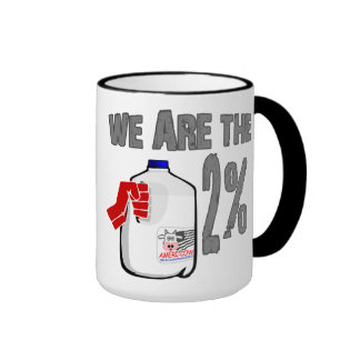 We Are The 2% Milk! Funny Occupy Wall Street Spoof Ringer Mug