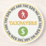 We Are The 53% Taxpayers Beverage Coaster