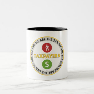 We Are The 53% Taxpayers Two-Tone Coffee Mug