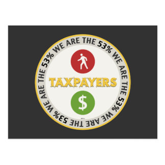 We Are The 53% Taxpayers Post Card