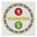 We Are The 53% Taxpayers Poster