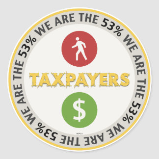 We Are The 53% Taxpayers Classic Round Sticker