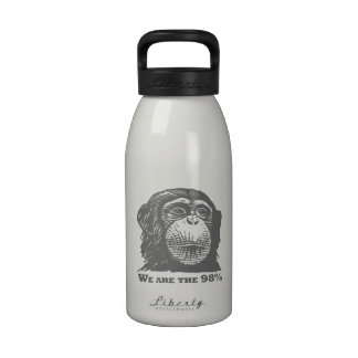 We Are The 98% - Human vs Chimp DNA Funny Meme Water Bottles