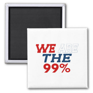 WE ARE THE 99% 2 INCH SQUARE MAGNET