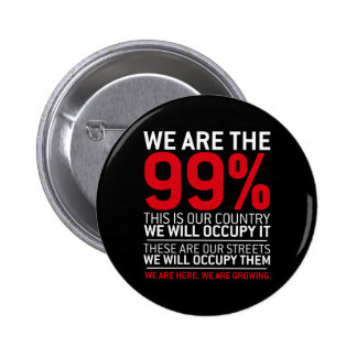 We are the 99% - 99 percent occupy wall street button