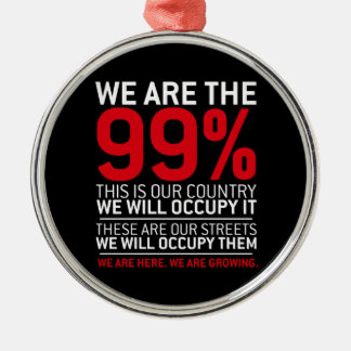 We are the 99% - 99 percent occupy wall street christmas tree ornament