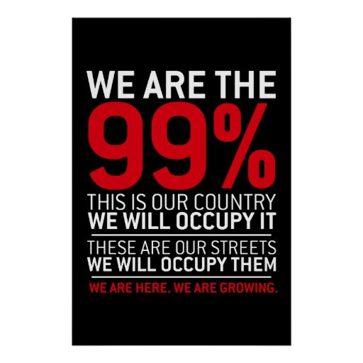 We are the 99% - 99 percent occupy wall street posters