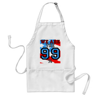 we are the 99% adult apron