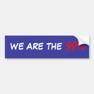 We Are The 99 Bumper Sticker