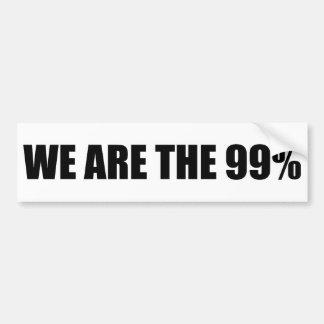 We Are the 99% Bumper Sticker Car Bumper Sticker