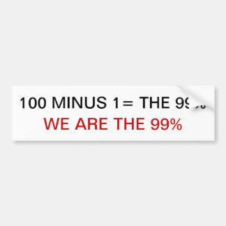 WE ARE THE 99% bumper sticker stickers merchandise Car Bumper Sticker