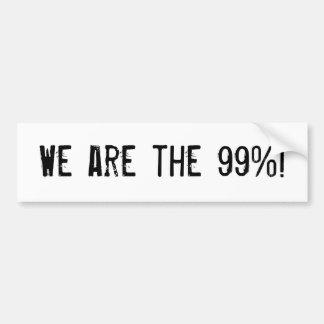 We are the 99%! car bumper sticker