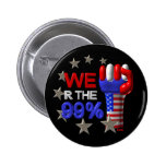 We are the 99 fist on 30 items pinback button