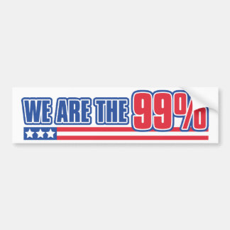 we are the 99% in the United States Car Bumper Sticker