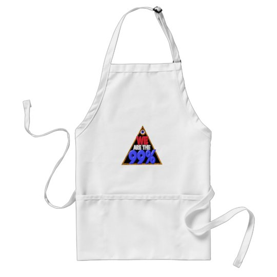 We are the 99% Occupy wall street protest Adult Apron
