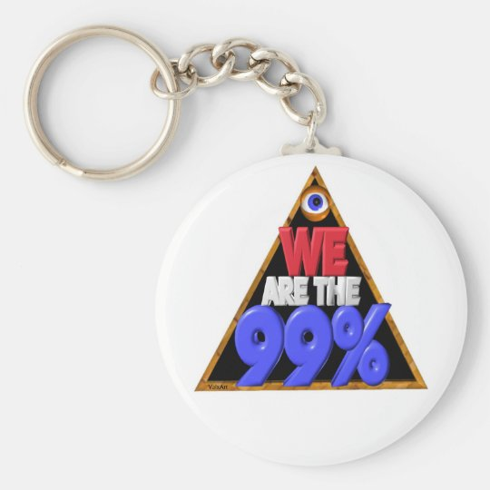 We are the 99% Occupy wall street protest Keychain