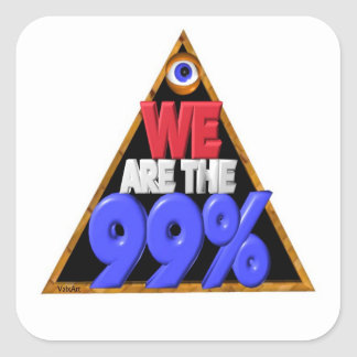 We are the 99% Occupy wall street protest Square Sticker