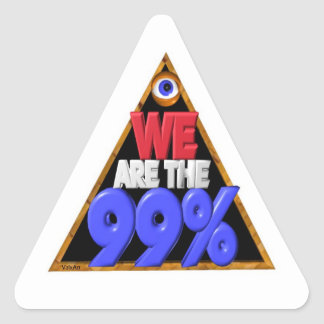 We are the 99% Occupy wall street protest Triangle Sticker