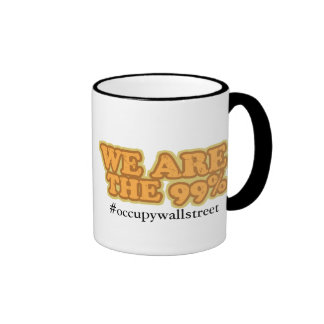 We Are The 99% - Occupy Wallstreet Ringer Mug