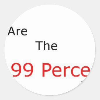 We are the 99 percent.! classic round sticker