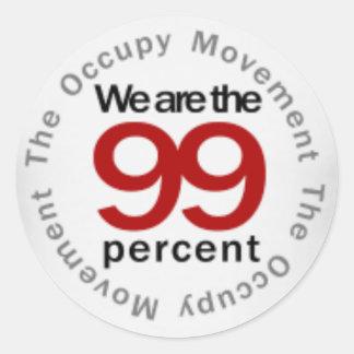 We are the 99 percent classic round sticker