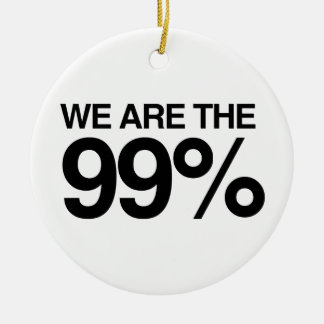 WE ARE THE 99 PERCENT -.png Christmas Ornaments