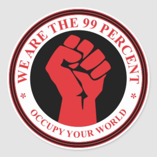 We Are The 99 Percent stickers
