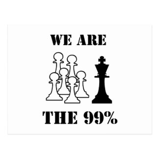 We are the 99% postcard