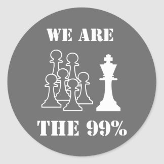 We are the 99% classic round sticker