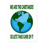 WE ARE THE CARETAKERS POSTCARD