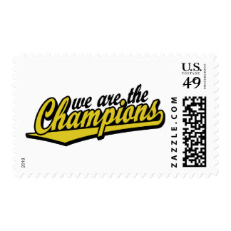 we are the Champions Postage Stamps