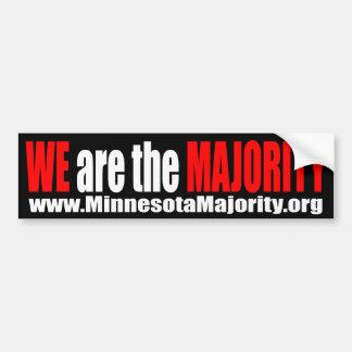 We Are The Majority Bumper Sticker Car Bumper Sticker