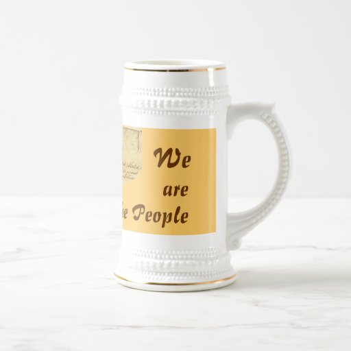 We are the People Stein 18 Oz Beer Stein