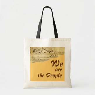 WE are the People tote bag bag