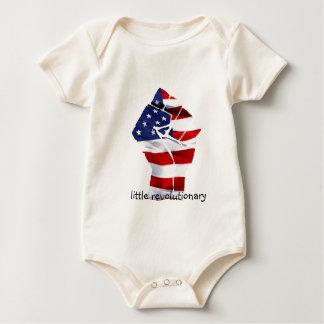 we are the revolutin white baby bodysuit