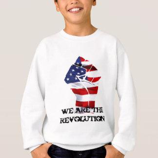 we are the revolutin white sweatshirt