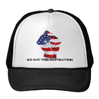 we are the revolutin white trucker hat