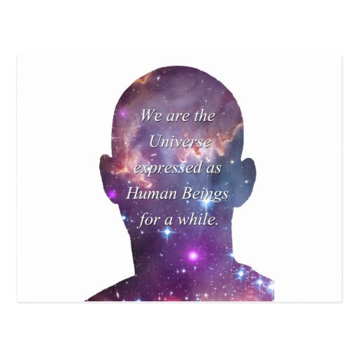 We are the Universe Postcard