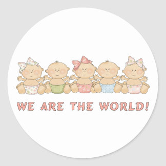 We are the World Babies Fun Stickers