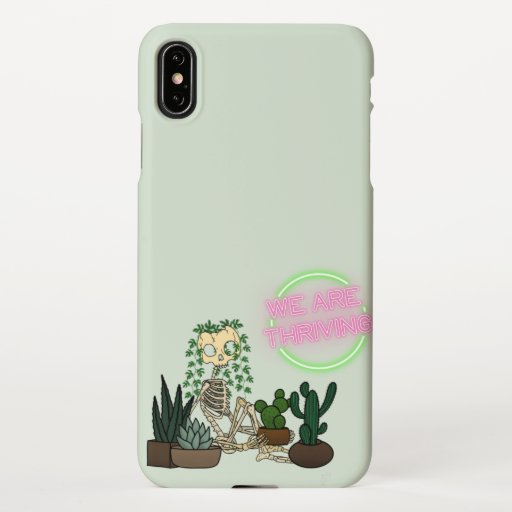 We are thriving iPhone case (light green) iPhone XS Max Case