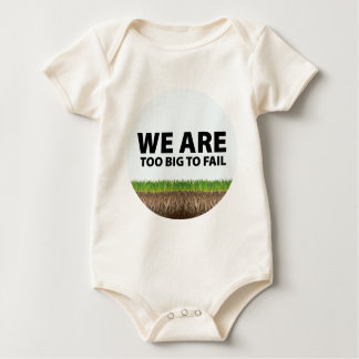 WE ARE Too Big To Fail - Occupy Wall Street Design Baby Bodysuit