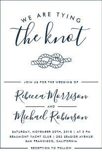 tying the knot invitations zazzle