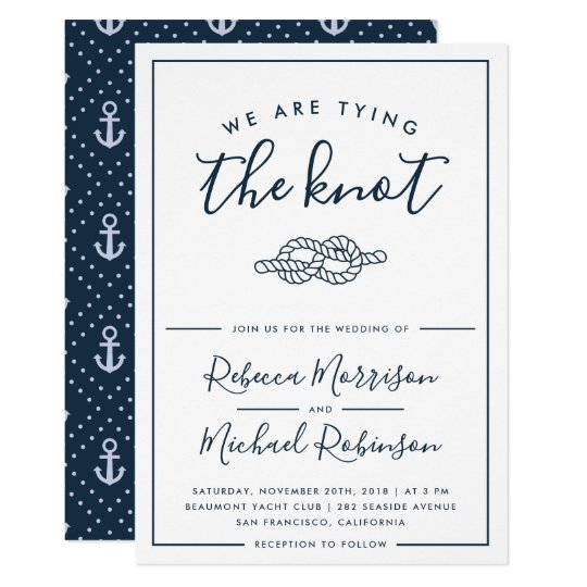 Nautical Wedding Invitations.We Are Tying The Knot Nautical Wedding Invitation