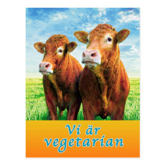 We are vegetarian postcard