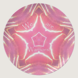 We are Warriors Breast Cancer Awareness Plate