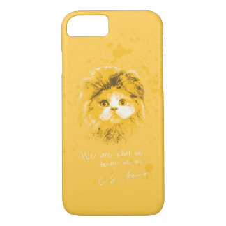 We are what we believe we are. - C. S. Lewis iPhone 8/7 Case