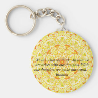 We are what we think. All that we are arises...... Keychain